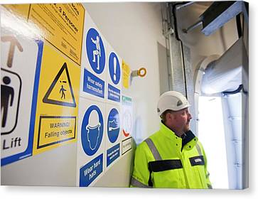 Ppe Instruction Canvas Print by Ashley Cooper
