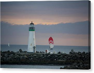 pr 200 - The Sailboats Canvas Print by Chris Berry