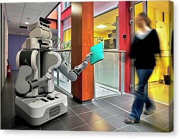 Pr2 Robot Research Canvas Print by Patrick Landmann