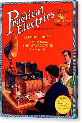 Practical Electrics Front Cover Canvas Print by Universal History Archive/uig