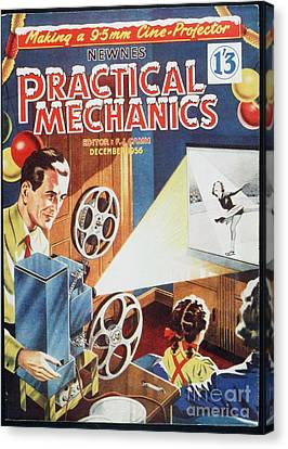 Practical Mechanics 1950s Uk Cine Film Canvas Print by The Advertising Archives