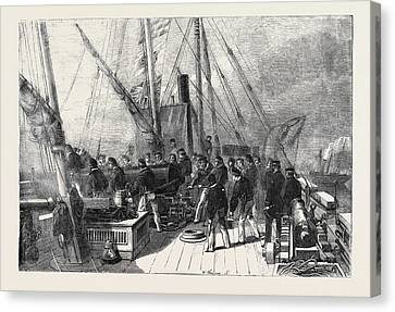Practising On Board H.m Canvas Print by English School