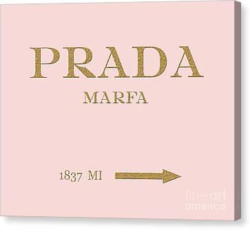 Prada Marfa Mileage Canvas Print by Edit Voros