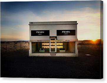 Prada Marfa Canvas Print by Mountain Dreams