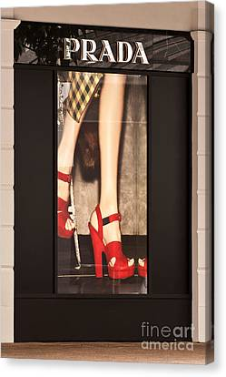 Prada Red Shoes Canvas Print