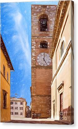 Praetorian Palace Colle Di Val D'elsa Canvas Print by Ezeepics