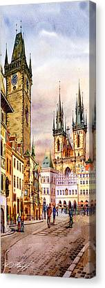 Prague Astronomic Clock  Canvas Print by Dmitry Koptevskiy