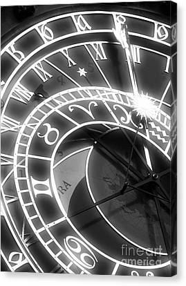 Prague Astronomical Clock Canvas Print by John Rizzuto