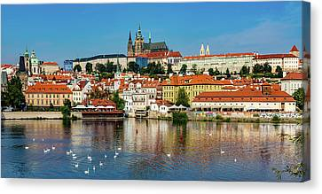 Prague Castle And Old Town Canvas Print
