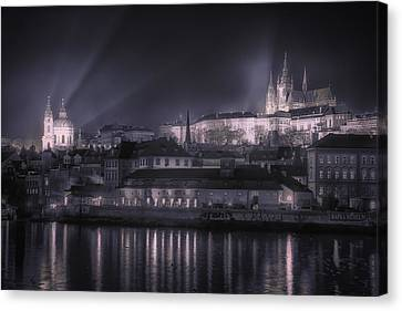 Prague Castle And St Nicholas Canvas Print by Joan Carroll