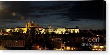 Prague Castle At Night Canvas Print by Ivy Ho