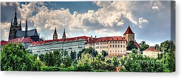 Canvas Print featuring the photograph Prague Castle by Joe  Ng