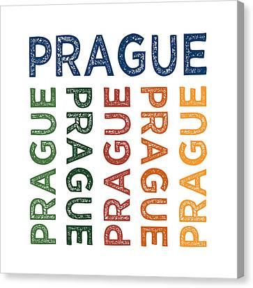 Prague Cute Colorful Canvas Print