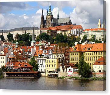 Canvas Print featuring the photograph Prague Skyline by Ira Shander
