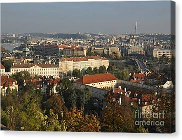 Prague Landscape Czech Republic Canvas Print by Anthony Morretta