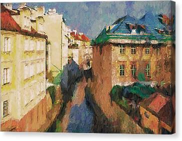 Prague Like Venice 2 Canvas Print