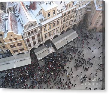 Canvas Print featuring the photograph Prague Market by Deborah Smolinske