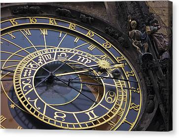 Prague Orloj Canvas Print by Adam Romanowicz