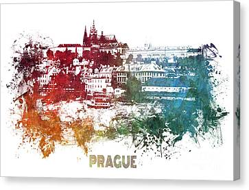 Prague Skyline Canvas Print