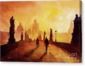 Prague Sunrise Canvas Print by Ryan Fox