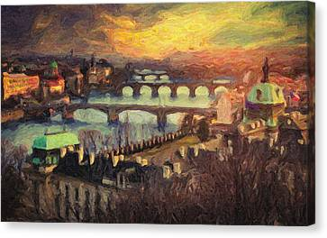 Prague Canvas Print by Taylan Apukovska
