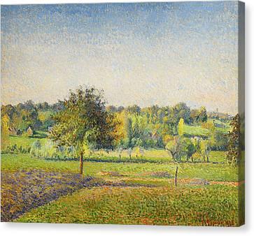 Prairie A Eragny  Canvas Print