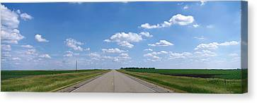 Prairie Highway, De Smet, South Dakota Canvas Print by Panoramic Images