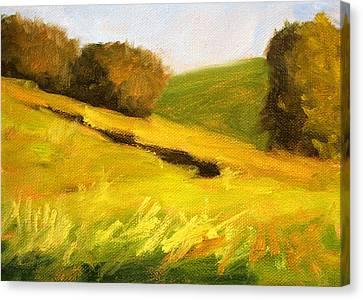 Wa Canvas Print - Prairie Hills by Nancy Merkle