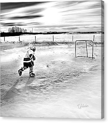 Prairie Hockey Canvas Print