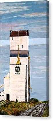 Prairie Icon - Manitoba Pool Elevator Canvas Print by Marilyn  McNish