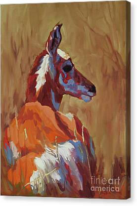 Pronghorn Antelope Canvas Print - Prairie Pal by Patricia A Griffin