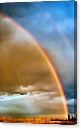 Prairie Rainbow Canvas Print by Ellen Heaverlo
