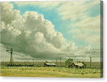 Prairie Sky Canvas Print by Paul Krapf