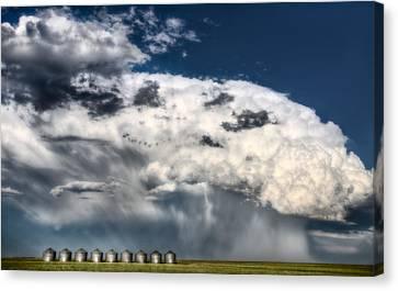 Prairie Storm Clouds Canvas Print