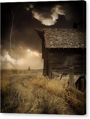 Barn Storm Canvas Print - Prairie Storm by Mountain Dreams