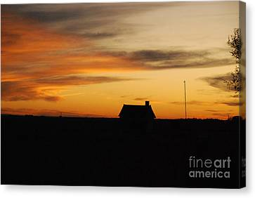 Canvas Print featuring the photograph Prairie Sunset by Mary Carol Story