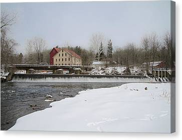 Prallsville Mills And Waterfalls - Stockton New Jersey Canvas Print by Bill Cannon