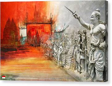 Prambanan Temple Compounds Canvas Print