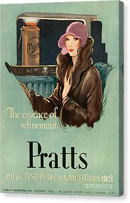 Pratts  1930 1930s Uk Cc  Women Woman Canvas Print by The Advertising Archives