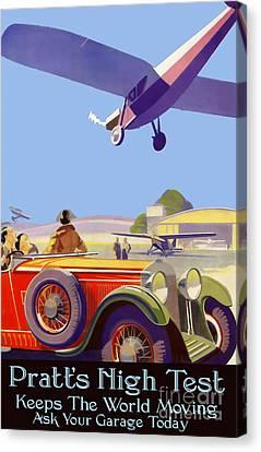Pratt's High Test Vintage Advertisment Canvas Print by Jon Neidert