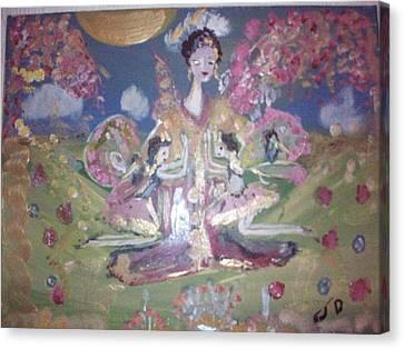 Pray For Japan Canvas Print by Judith Desrosiers