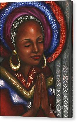 Canvas Print featuring the pastel Pray With Me by Alga Washington