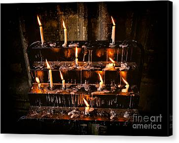 Prayer Candles Canvas Print by Adrian Evans