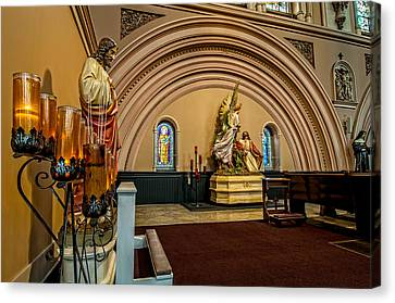 Architecture Canvas Print - Prayer Candles At St. Joseph Church - New Orleans by Andy Crawford