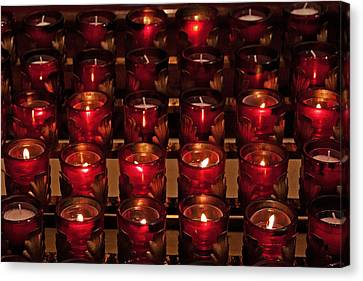 Prayer Candles Canvas Print