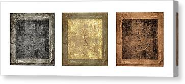 Prayer Flag Triptych Series Two Canvas Print by Carol Leigh