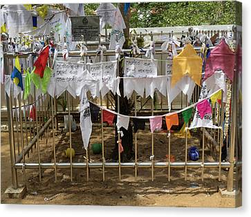 Prayer Flags At The Great Monastery Canvas Print by Panoramic Images