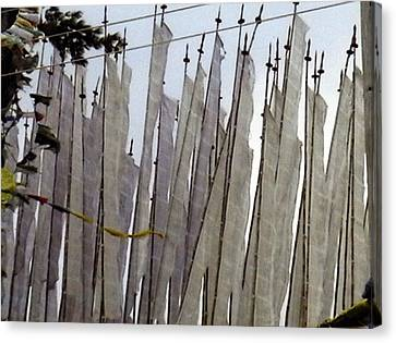 Canvas Print featuring the photograph Prayer Flags by Patrick Morgan