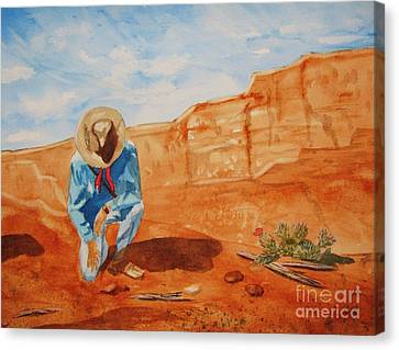 Canvas Print featuring the painting Prayer For Earth Mother by Ellen Levinson
