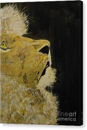 Prayer Lion Canvas Print by Harold Greer